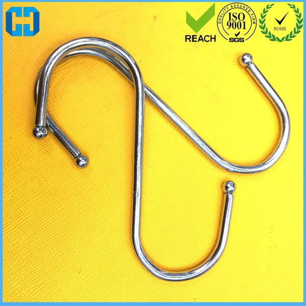 10 pcs Wall Hanger Bathroom Kitchen <strong>Hook</strong> 92*28mm S Shaped <strong>Hook</strong>