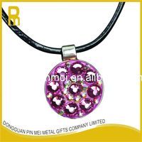 2016 fashional handmade fake crystal ball marker necklace