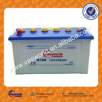 Japan technology JIS standard wholesale price n100 12v100ah dry charged auto car battery best price for Malaysia market