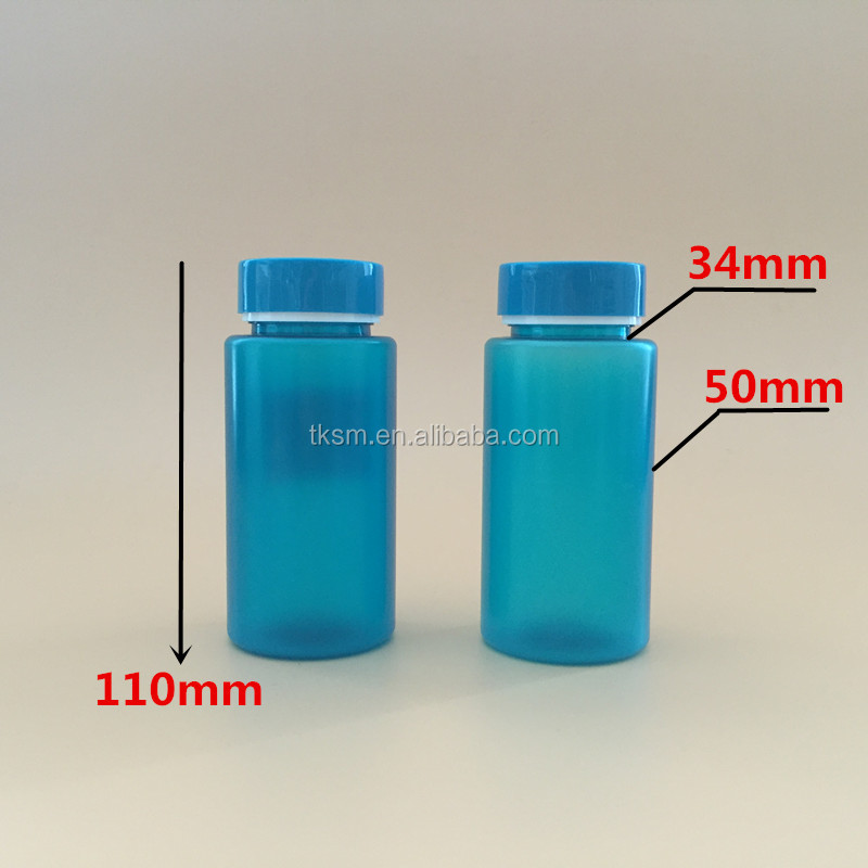 170ml round blue pills plastic screw cap,medicine ,empty, pill pet bottle