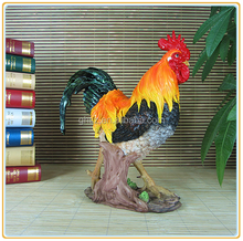 Custom Life Size Decorative Polyresin Rooster Statue For Home Decor