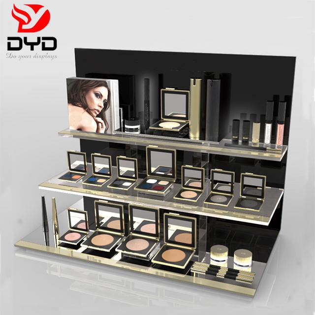 Custom retail cosmetic makeup desktop acrylic display stand