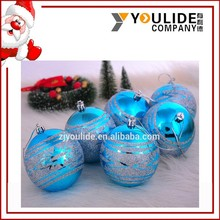 Hollow Painting Customized Christmas Tree Decoration Plastic hanging Balls