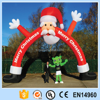 Giant outdoor inflatable santa claus advertising decoration archway