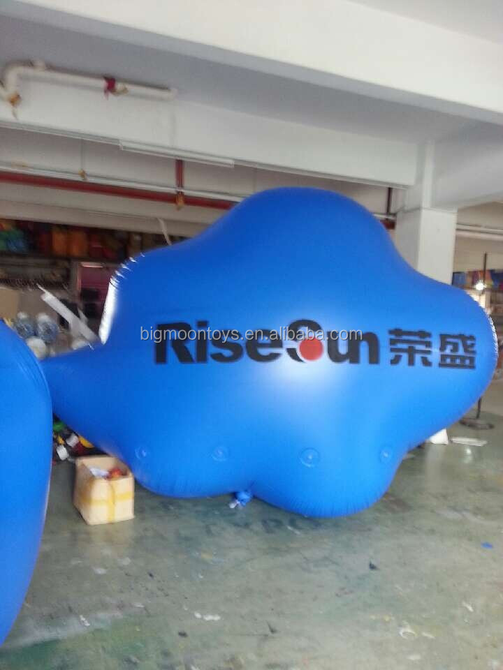 Cloud helium balloon, inflatable cloud for sale / giant advertising blue balloons