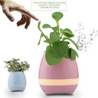 2017 trending produtos Build-in de alta performance de música inteligente vaso de flores com lightium recarregável bateria
