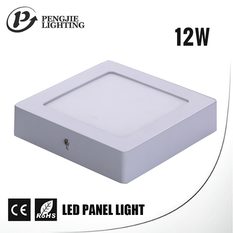 Pengjie New Promotion Led Square Ceiling Panel Light 12W Surface Mounted