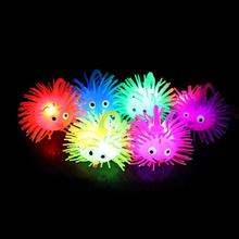 Different colors squishy led flashing puffer ball