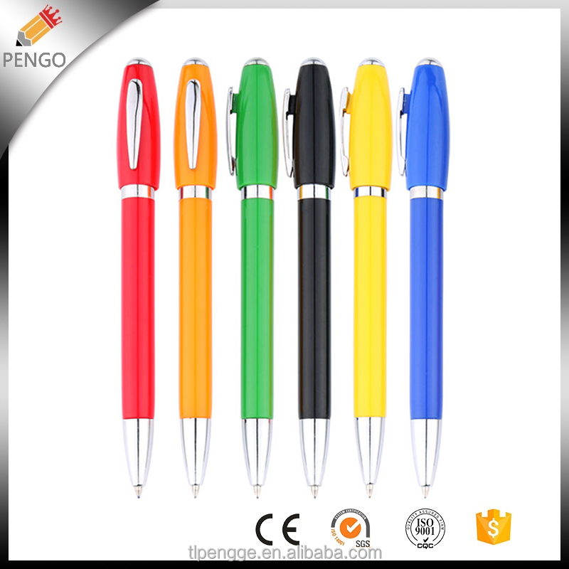 China best designed Advertising Plain colour Plastic Fancy Ball Point Pen