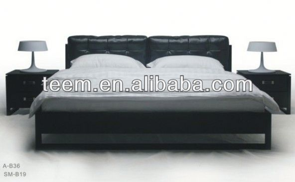 2014 Divany comfortable bed set bed with tv in footboard