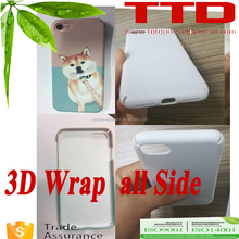 polymer Sublimation 3D hard phone case for iphon 7 , newest wrap all side edges