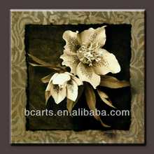 BC13-8698 Hot Selling New Design Modern Handpainted Wall Art Abstract White Flower Oil Painting on Canvas