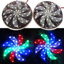 12v 8cm 8 leaves red green blue four colors flashing led motorcycle wheel light