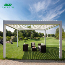 Rain protection outdoor roof bioclimatic pergola