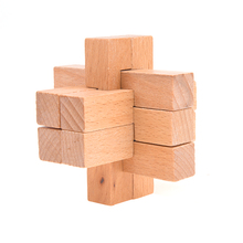 Intelligent Toy Flower Shaped KongMing Lock Brain Teaser Wooden Puzzle Gift brain novelty gift