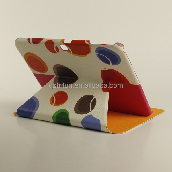 Colourful galaxy cover for samsung tablet case