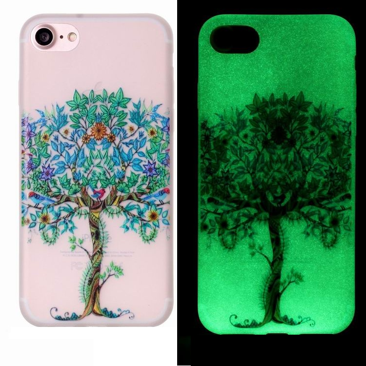 Luminous Phone Cover For Apple iPhone 7 with Various Patterns, For iPhone 7 Glow Mobile Accessories Case