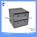 Hottest!! home decorative callapsibel fabric storage boxes with drawers