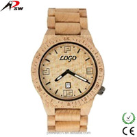 bezel maple natural two tone color natural wooden watch