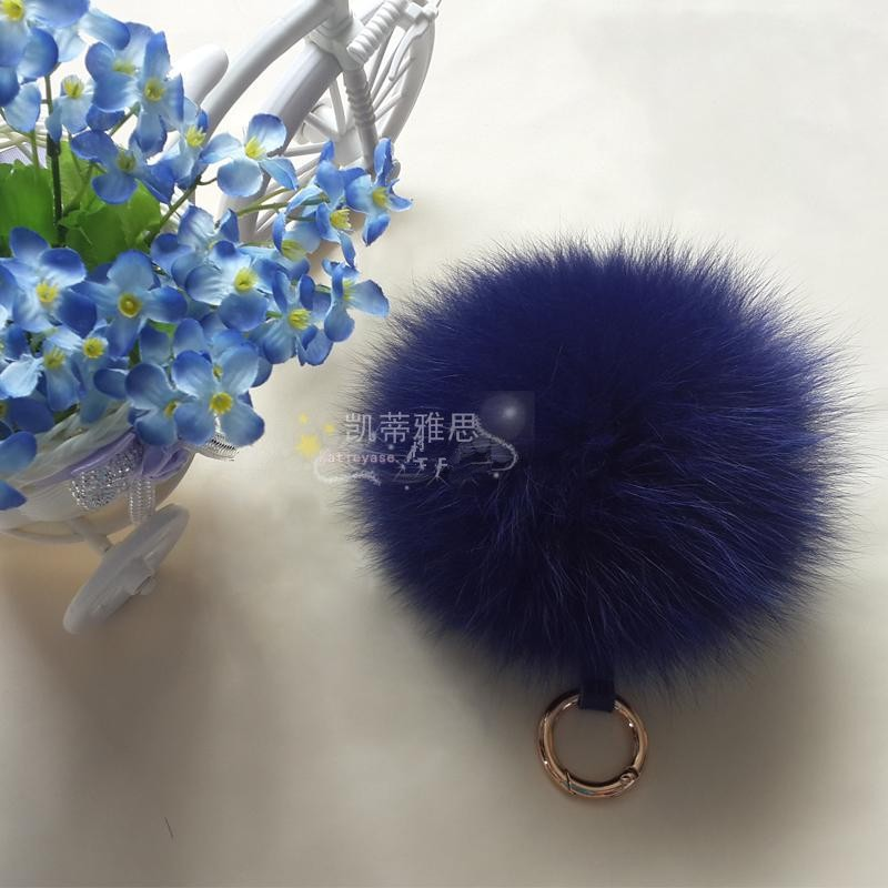 Funny Fur Balls On Winter Hats Top Quality 11-12cm Girls With Animals Sex Wholesale Fox Fur Pompom
