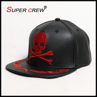 The Cool Hip Hot Snapback Leather Black Baseball Hats For Sale
