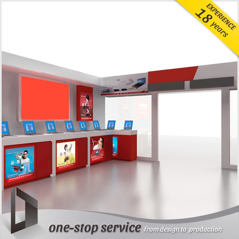 attractive mobile phone retail glass store display showcase