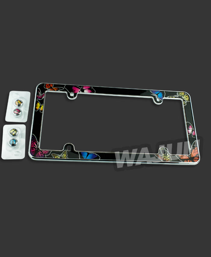 custom clear metal license plate frames covers