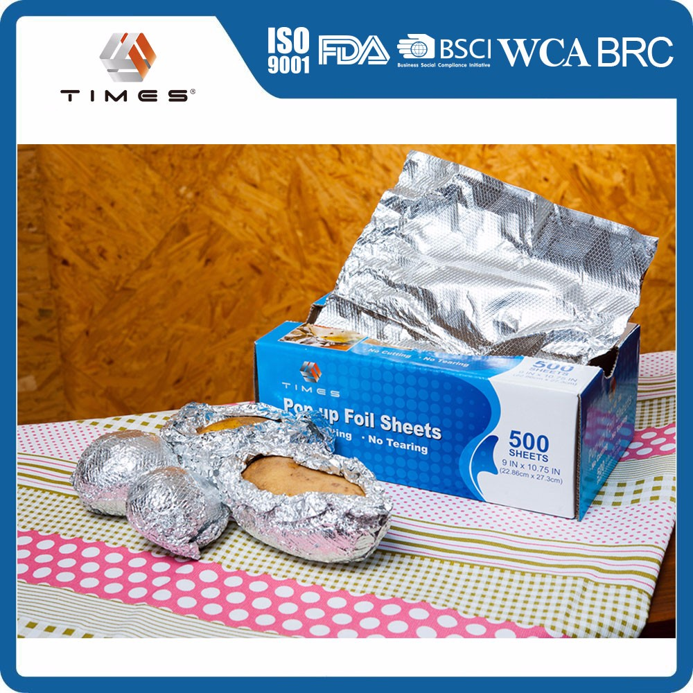 disposable packaging aluminum foil pop-up sheets