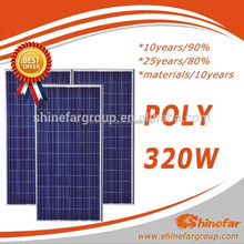 High Efficeiency and Lowest Price Poly 320 watt solar panel for 10000 watt system
