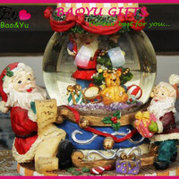 Decoration Christmas Gifts Snow Globe Resin
