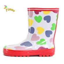 Clear rain boots kids wellies made by natural rubber with cute patterns