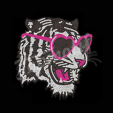 Funny Tiger Rhinestone Iron On Transfer