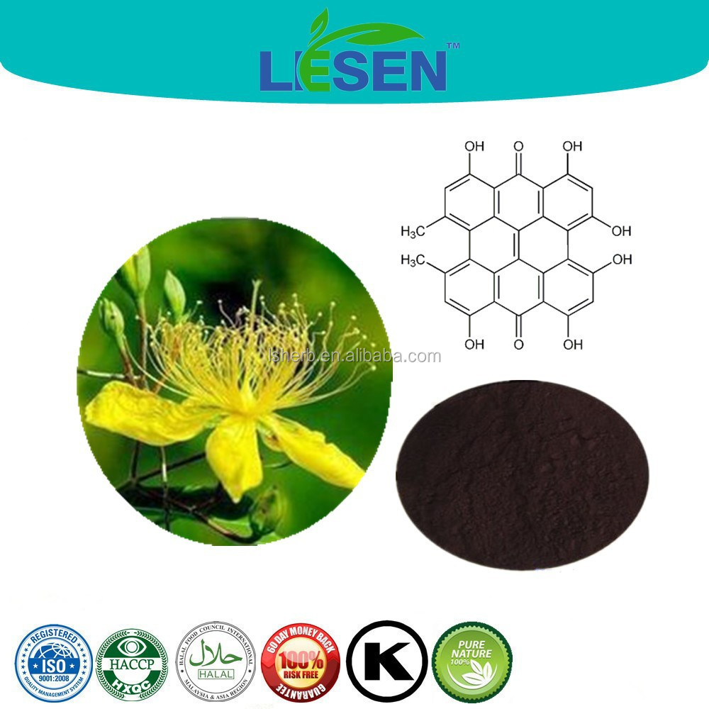Plant Extract Manufacturer Supply St John's Wort Extract Hyperforin Powder to Anti Depression Ingredients