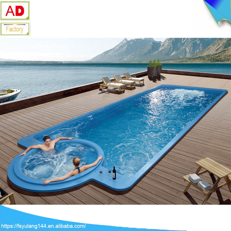 AD-P12 Luxurious Outdoor Smart Acrylic Swimming Pool Large Spa Surfing Massage Thermostat Heating Villa Adult Jakuzzy