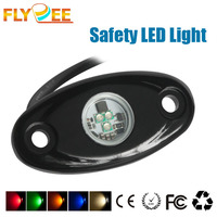 2016 Flydee 9V 32V 9W Underground Decoration Safety Waring LED Light for ATV, UTV, Car Lamp, Trucks Boat