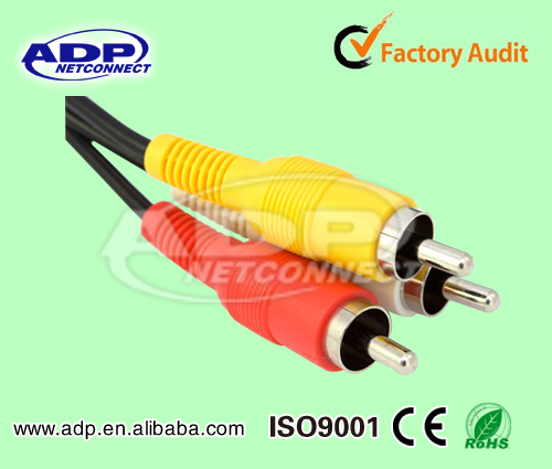 hot sale high quality vga rca cable with 3 rca