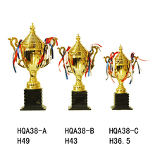 Wholesale Blank China Metal Custom Trophies, Gold Plate Award Trophy Cup