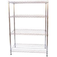 Trade assurance JS-WS01 free standing wire display racks,Chrome shelves,Wire Shelving