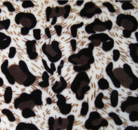 leopard print fleece fabric for blankets bed sets toys
