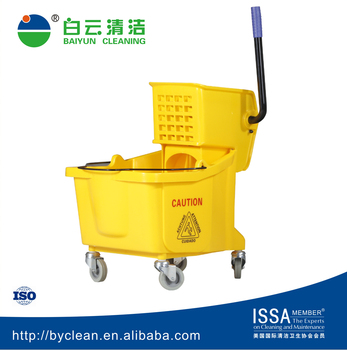 guangzhou baiyun cleaning 36L plastic mop wringer bucket for house , hotel ,office,restaurant