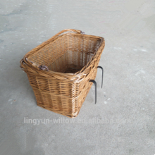 natural high quality wicker removable bicycle basket wholesale