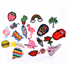 20pcs/Set Embroidery Patches Outer Space Planet Pattern Sew On Patches Iron On Patches For Clothes Badges Sticker For Jeans