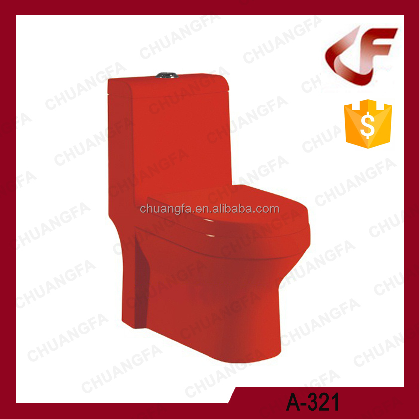Factory customized ceramics solid color black / red/ gold toilet