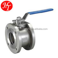 1 pc din flanged ball valve with iso 5211 mounting pad