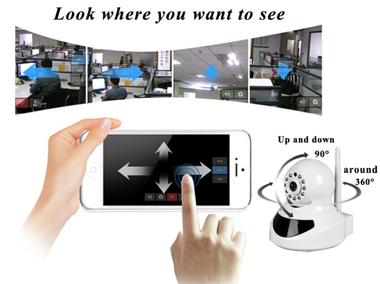 Free video call home security ip network phone camera