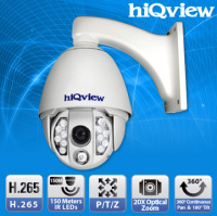HIQ-7210 H.265 Speed Dome 20X Optical Zoom IR-150M Outdoor Full HD IP Camera