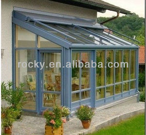 outdoor glass panel