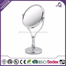Professional hot sale 10x magnifying mirror chrome desktop makeup mirror
