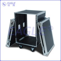 16U standard shockproof flight case with wheel