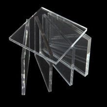 Transparent plexiglass plastic sheet with Mitsubishi material for art work